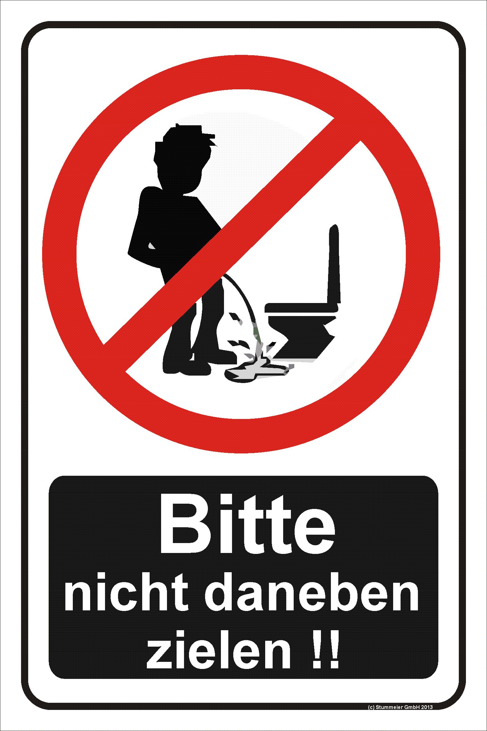 hinweisschild toilette nicht daneben zielen