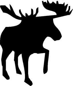 aufkleber silhouette elch kanada elchschilder onlineshop f r lustige schilder. Black Bedroom Furniture Sets. Home Design Ideas