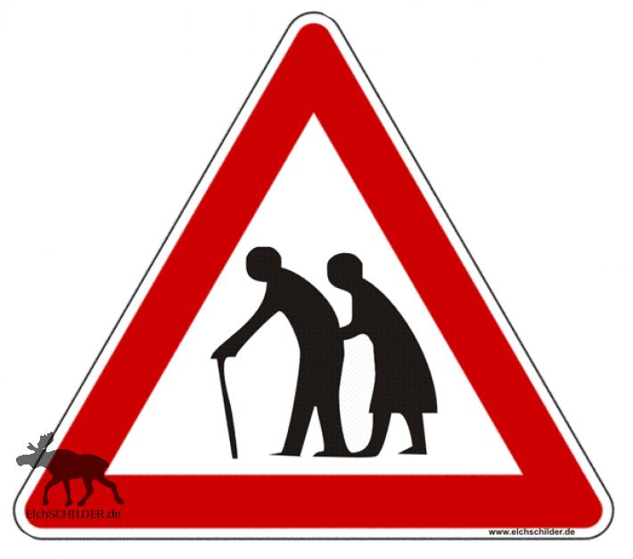 Achtung ältere Menschen