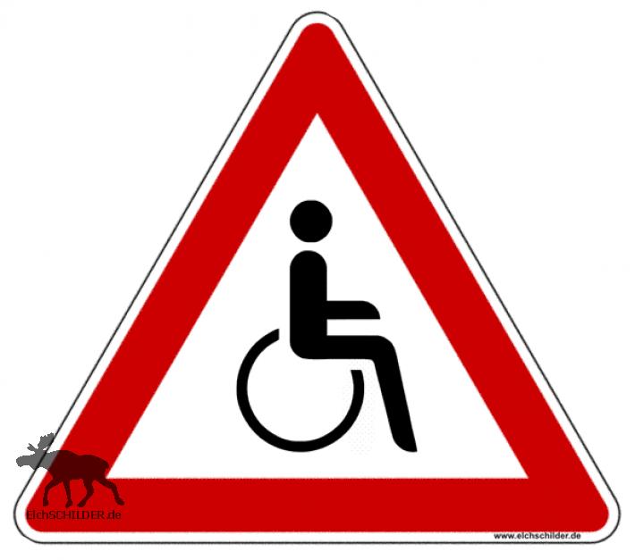 Achtung Rollstuhlfahrer