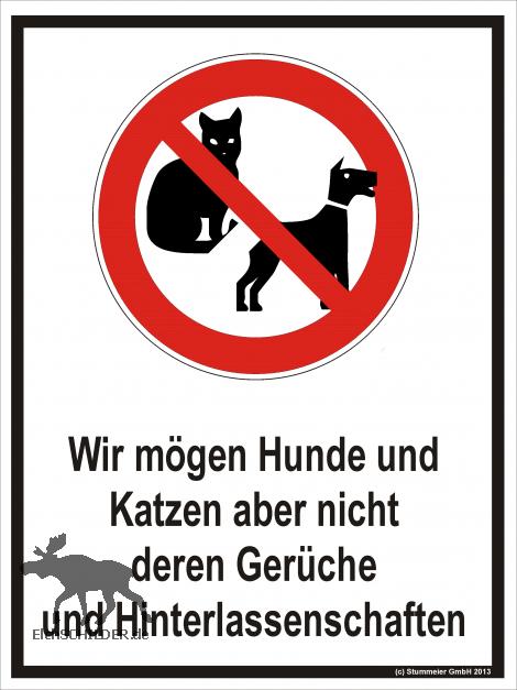 Hinweisschild Kein Hunde- oder Katzenklo - elchschilder.de
