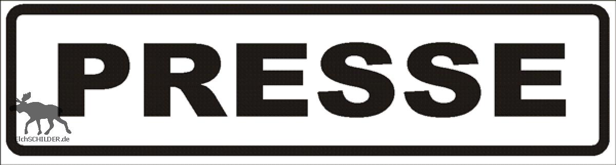 Magnetschild Presse