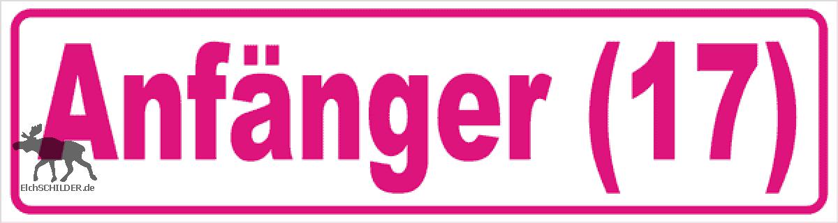 Magnetschild Anfänger 17