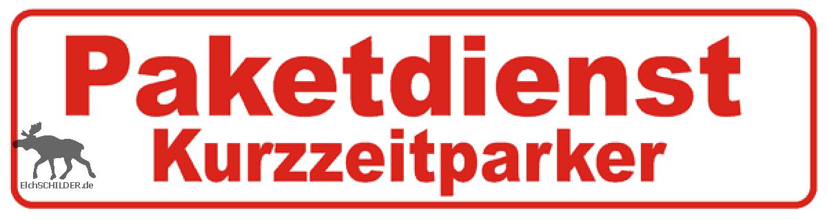 Magnetschild Paketdienst Kurzzeitparker
