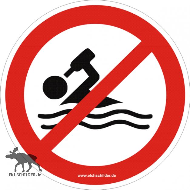 Verbotsschild Alkoholverbot für Badegäste
