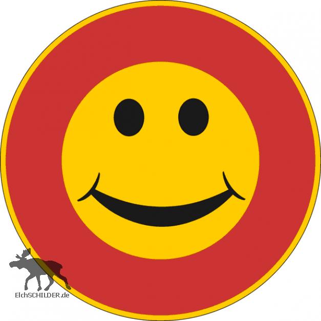 Verkehrsschild Finnland Smiley