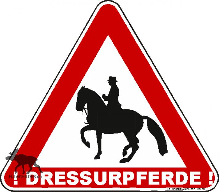 Achtung Dressurpferde