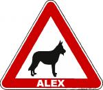 Achtung Hund - Schäferhund mit Wunschtext