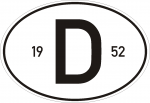 D-Schild mit Jahreszahl nach Wunsch