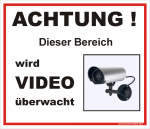 Hinweisschild Video �berwacht
