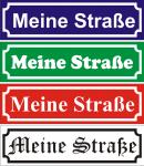 Hinweisschild Straßenschild eigener Text