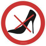 Verbotsschild Highheels verboten