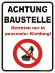 Hinweisschild Achtung Baustelle - Highheels
