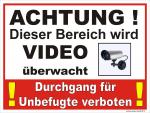 Durchgang verboten Video überwacht