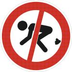 Hinweisschild Koten verboten Mensch