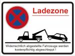 Hinweisschild Halteverbot - Ladezone