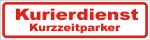 Magnetschild Kurierdienst Kurzzeitparker