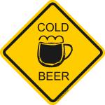 Verkehrsschild Australien Cold Beer
