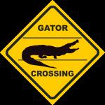 Verkehrsschild Australien Gator crossing
