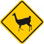 Verkehrsschild Bolivien Lama