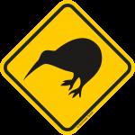 Verkehrsschild Australien Achtung Kiwi