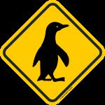 Verkehrsschild Australien Achtung Pinguin