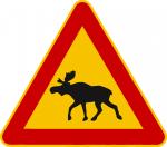 Verkehrsschild Finnland Elch