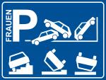 Lustiges Parkplatzschild oder Aufkleber Frauen-Parkplatz